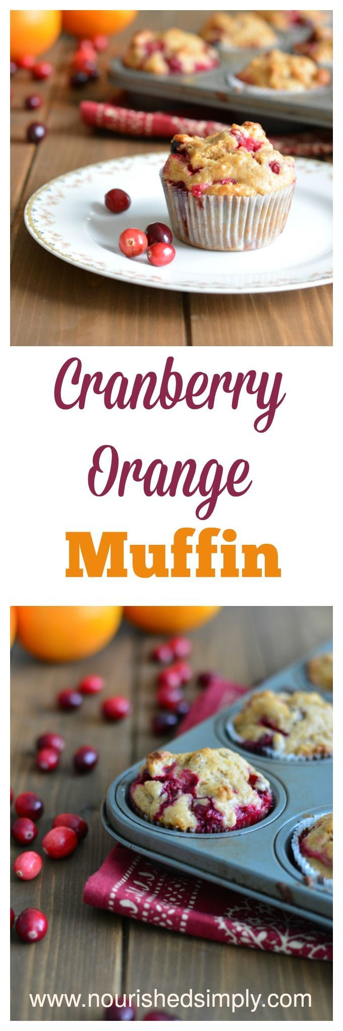 Cranberry Orange Muffin made with fresh cranberries and orange zest are perfect for the holidays.
