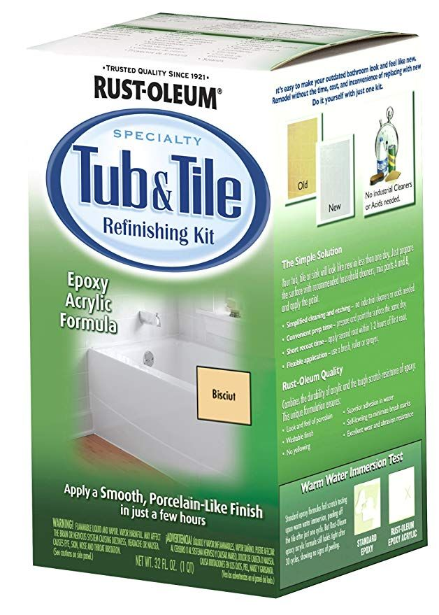 Rust Oleum 7862519 Tub And Tile Refinishing 2 Part Kit Biscuit