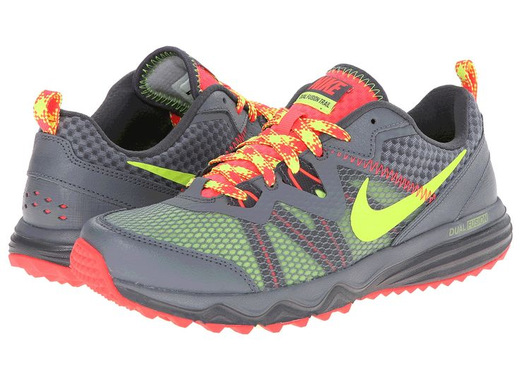 Nike Dual Fusion Trail Dark Grey/Cool Grey/Hyper Punch/Volt - 6pm