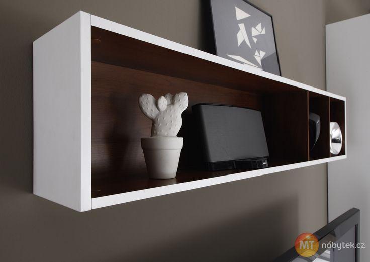 Závěsná police na zeď Cordelia  Cordelia furniture - shelf