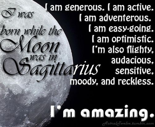 MOON IN SAGITTARIUS  #Zodiac #Astrology For related posts, please check out my FB page:  https://www.facebook.com/TheZodiacZone