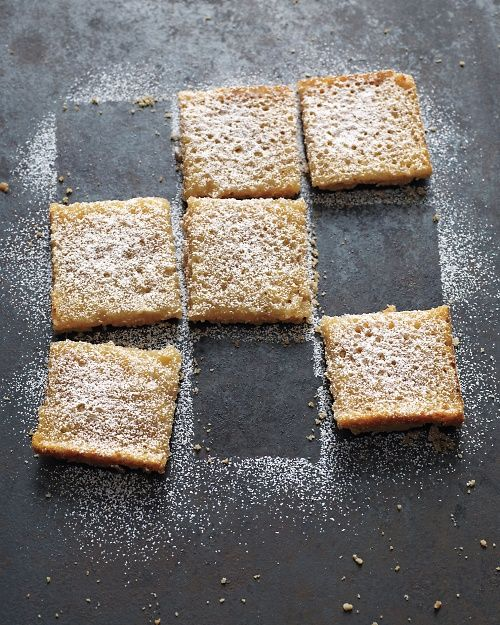 Lemon-Coconut Tofu Squares - Whole Living Eat Well - Just made these and they are awesome!