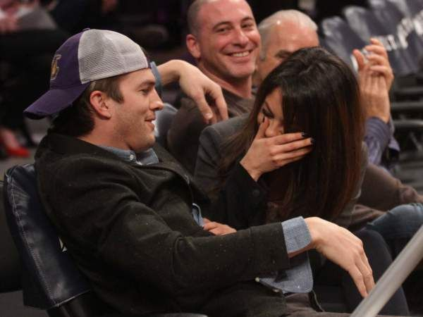 Click here for adorable photos of Mila and Ashton on the Lakers kiss cam!