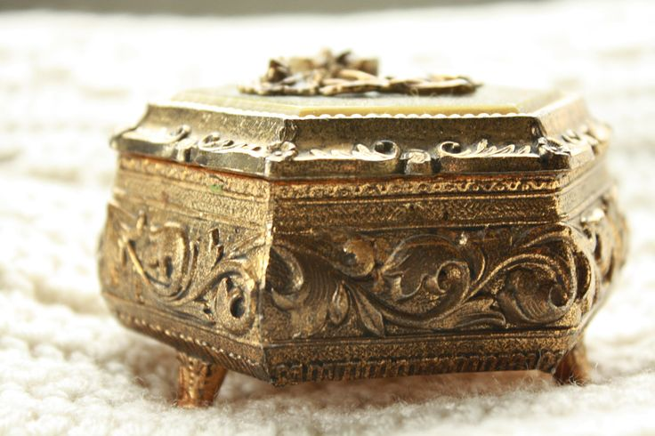 Antique Music Boxes | Antique Brass Rose Music Box by btsubtsu on Etsy