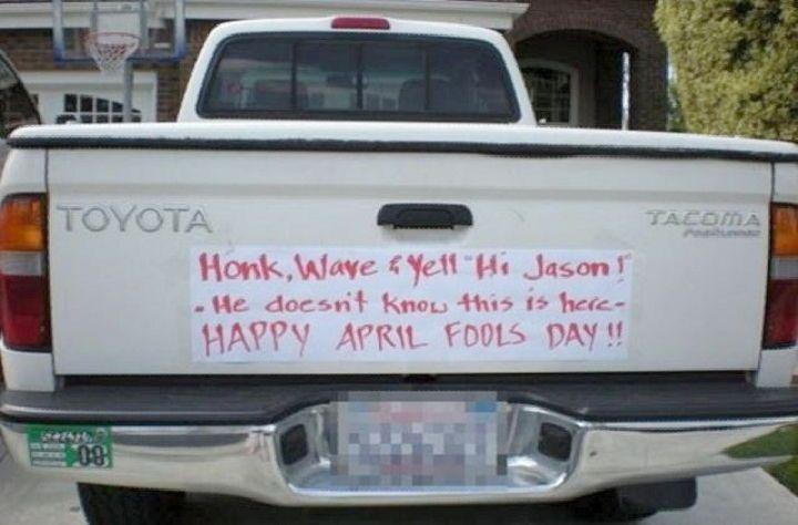 Ideas funny pictures april fools pranks car pranks revenge