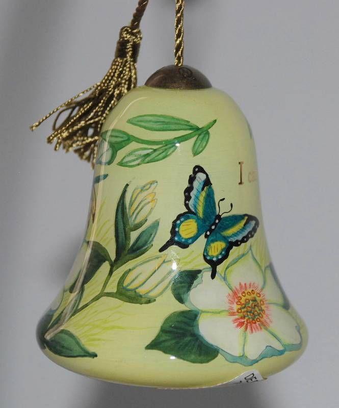 "Ne'Qwa Hand Painted ""I CAN DO ALL THINGS"" #Christmas #Ornament Susan Winget NIB"