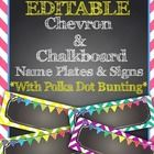 EDITABLE! Type your students' names into these cute chevron and chalkboard themed name plates for your desks! Then just print, laminate, and enjoy!...