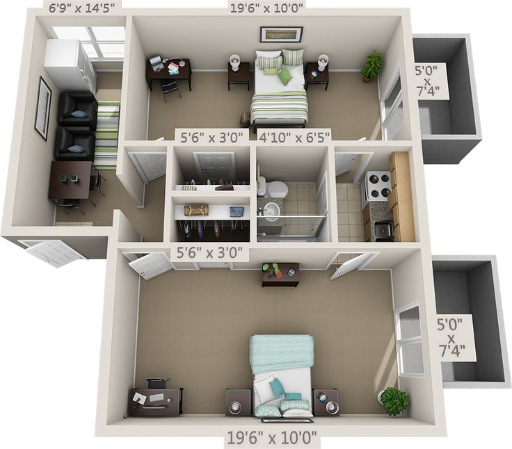 College Park Apartments: Floor Plans - College Park Apartments En 2019