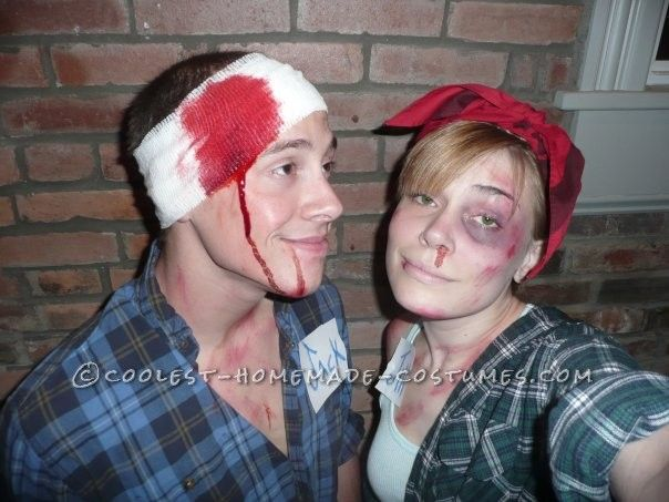 Cool Last-Minute Couples Costume: Jack and Jill AFTER the Hill ...This website is the Pinterest of birthday cakes