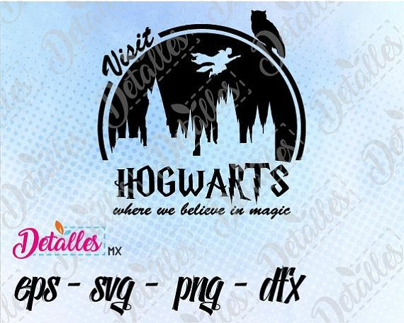 Harry potter Visit Hogwarts SVG Cut File Vector SVG Eps High