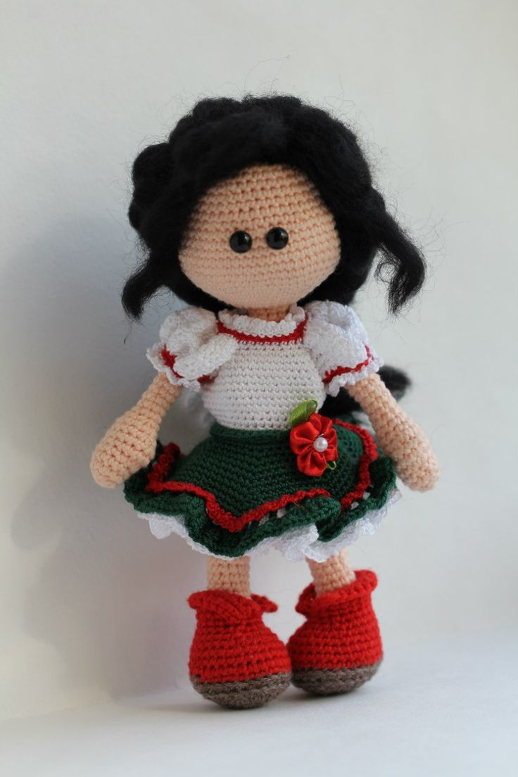 Knit Amigurumi Doll Pattern : Top ideas about knitted soft dolls and animals on