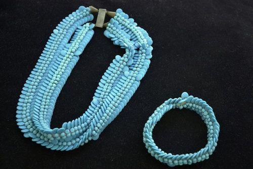 Parure bracelet et collier Elsa Triolet