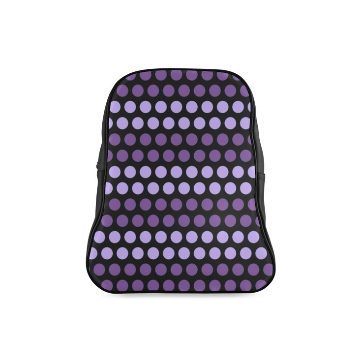 CVMi30048 Polka Dots Purple Black School Backpack (Model 1601)
