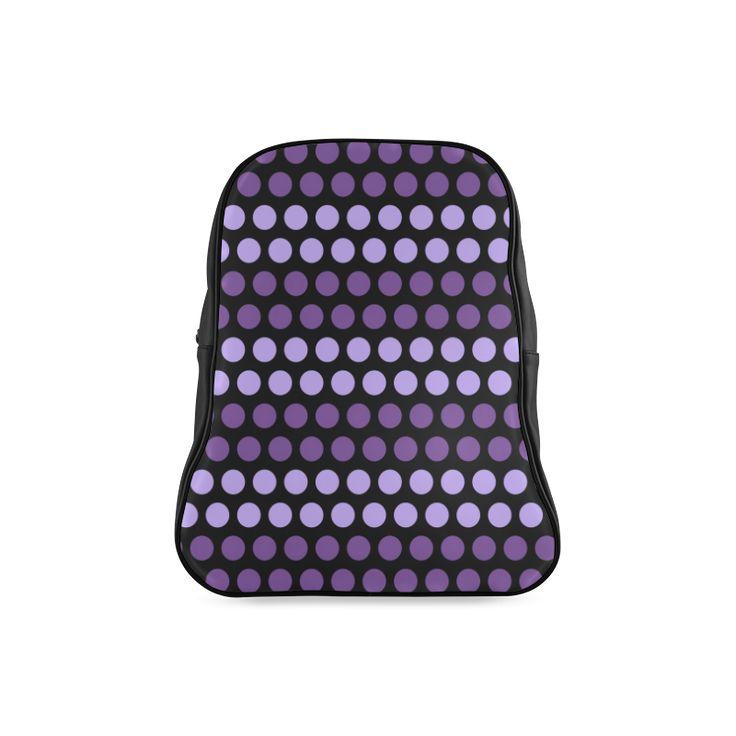 CVMi30048 Polka Dots Purple Black School Backpack (Model 1601)