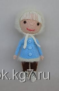 Мастер-класс вязанной куклы: Master Class, Snow Girls, Crochet Toys, Crochet Dolls, Free Crochet, Crochet Amigurumi, Knits Dolls, Crochet Patterns