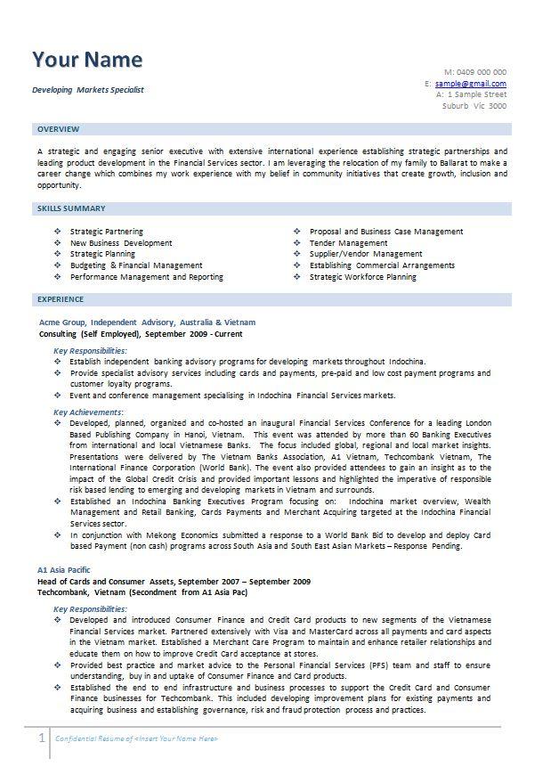Cv Templates Australia (6) TEMPLATES EXAMPLE TEMPLATES