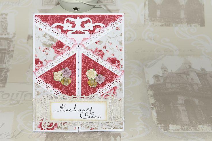 Handmade folded card for my lovely auntie.
