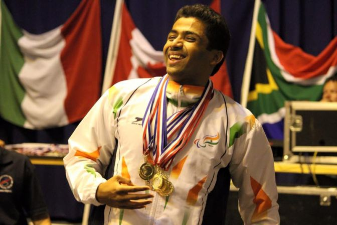 Niranjan Mukundan who is Jain University alumnus is a para-swimmer champion from India.