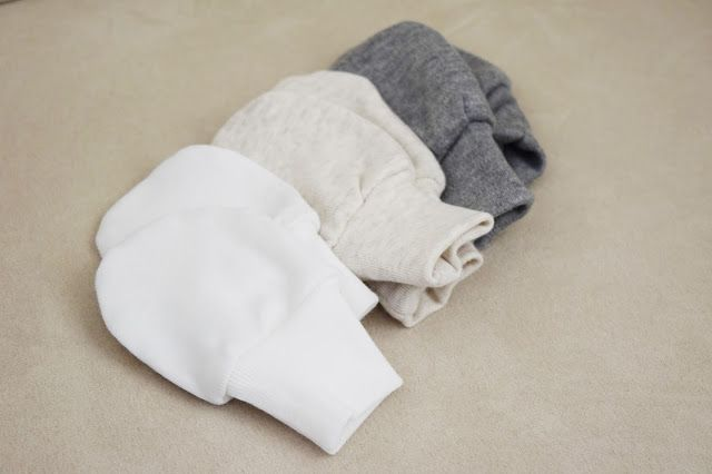 DIY: Baby mittens that stay on to protect baby from scratching face
