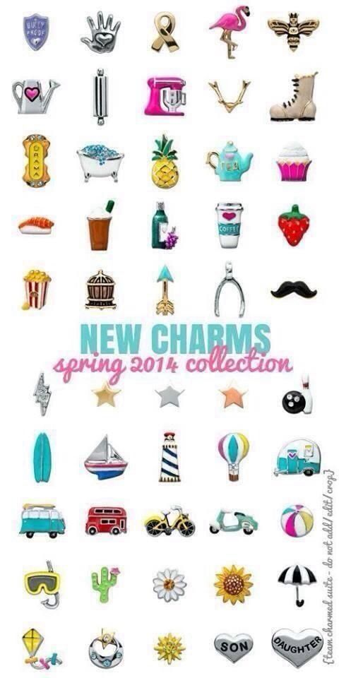 *New Charms | Origami Owl Spring 2014 Collection !  Www.asaylor.origamiowl.com or Contact Ashley on her FB Page:  The Owl Shack !