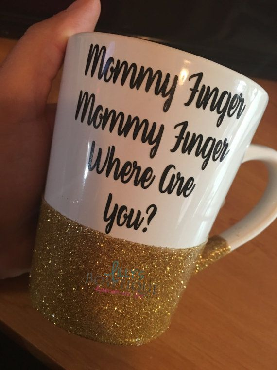Mommy Finger Glitter Mug/Mommy Finger song/Mommy by LillysBowtique