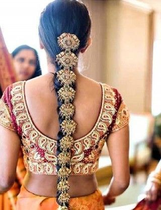 Jewelled Indian Bridal Hairstyle - #Bridal #hairstyle #Indian #Jewelled - #bridal
