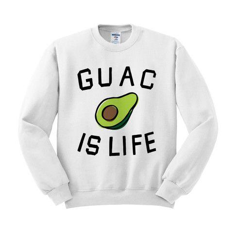 Guacamole is Life Crewneck Sweatshirt – TeesAndTankYou