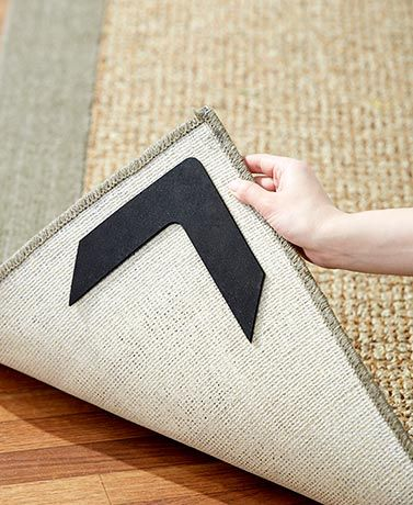 Keep Your Rug From Sliding Around Curling Its Corners Or Bunching Up With Corner Grippers They Hold A In Place Even During Vacuuming