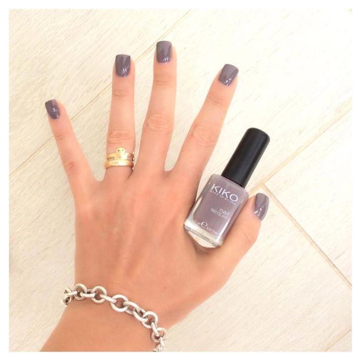Anche se un po' invernale il 381 della kiko mi piace sempre, un alternativa ai nude!  #eglebreme #manicure #kiko #kikocosmetics #smalto #nails #nailpolish