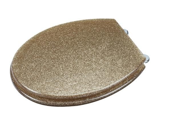 Gold Glitter Toilet Seats. Visit us now and ENJOY 10% OFF + FREE SHIPPING on all orders - GBP24.99