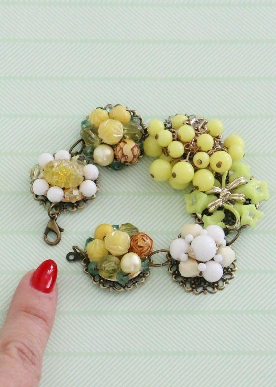 Vintage Earring Bracelet Tutorial | for if I ever find any broken clip-ons
