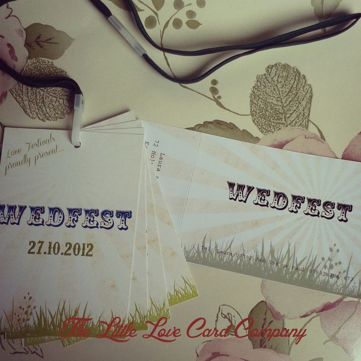 what to include in diy wedding invitations%0A We u    ve done all sorts including these festival themed ticket invites  u     order  of service lanyards