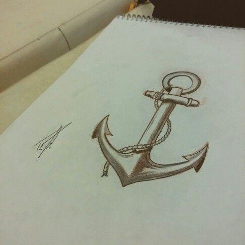 Ancora Disponível para tatuar. #ancora #anchor #blackandgrey #shadowwork #lines #ink #tattoo #tatuagem #sketch
