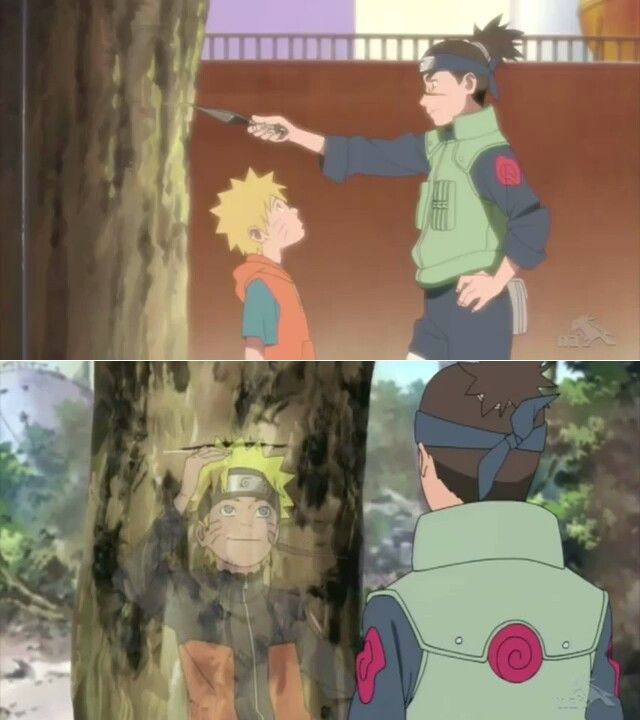 When you get this tall, you can become Hokage. -Iruka #naruto