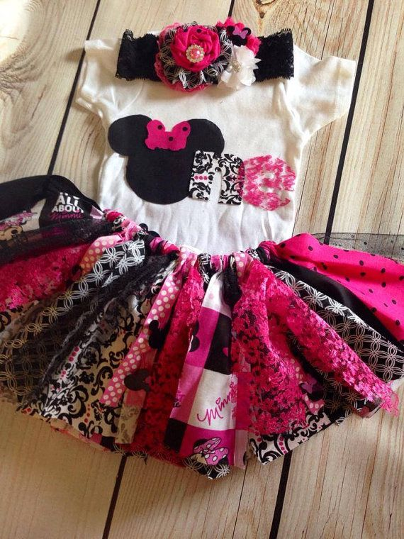 Minnie Mouse Birthday Outfit Minnie Mouse by FreshVioletsBowtique, $75.00