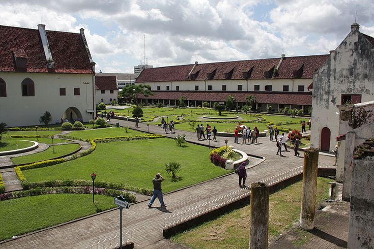The inside of Fort Rotterdam in Makassar, South Sulawesi, Indonesia.