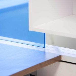 Clarus Furniture Desk Dividing Glass Blue