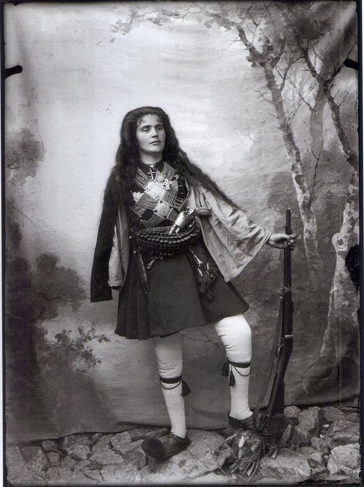 Woman Dressed as Greek Fighter of the Macedonian Struggle by Leonidas Papazoglou