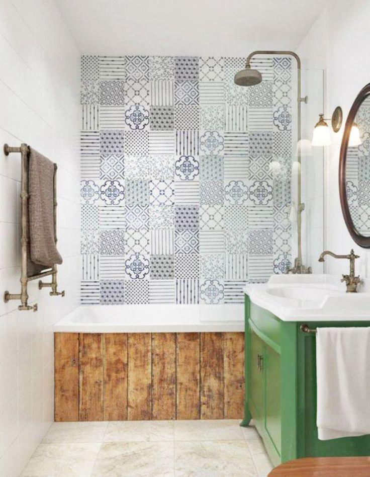 carreaux-de-ciment- salle de bain vintage