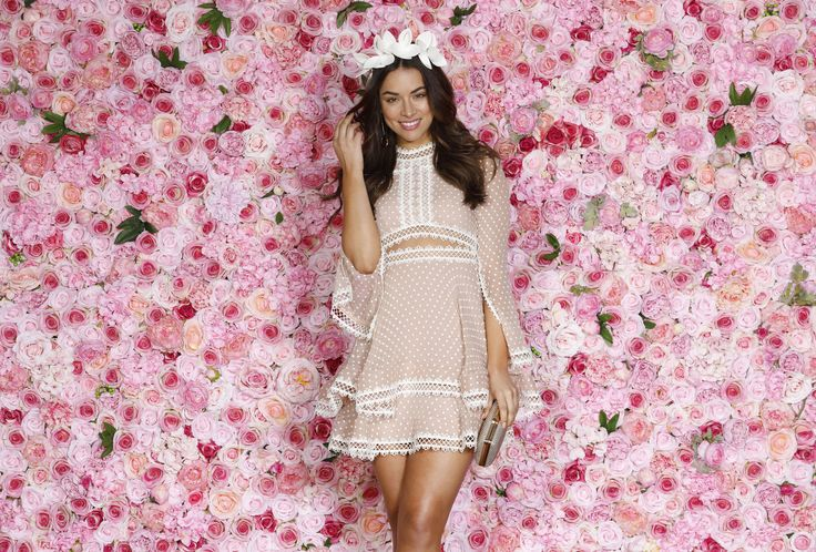 Monika wears Thurley Tea Party Mini Dress // Available to hire in sizes 6-14 for $119