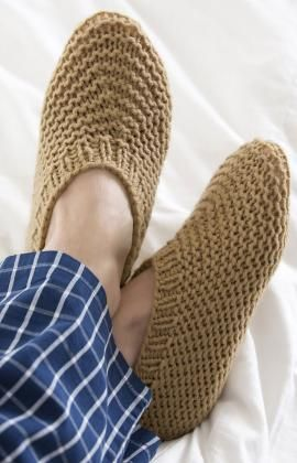 One of my favourite patterns for slippers at the moment. I'm trying a few out to knit for hubby.