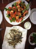 Frittierte Sardinen - Seetang