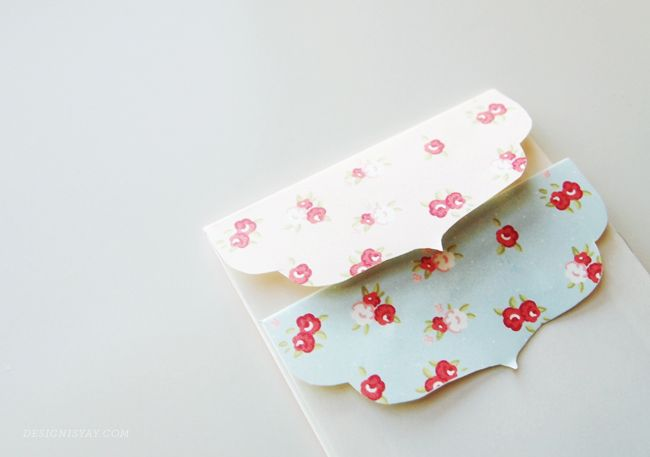 Printable Shabby Chic money packets or mini envelopes | DESIGN IS YAY!