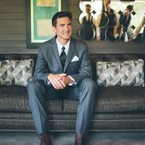 grey suits with black ties and brown cowboy boots   Classic Gray Suit