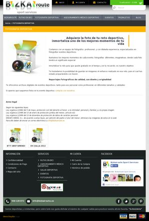 Bizkairoute, en su pagina web creada por Denocheydia, empresa de diseño de paginas web en Bilbao, ofrece servicio de fotografía deportiva.
