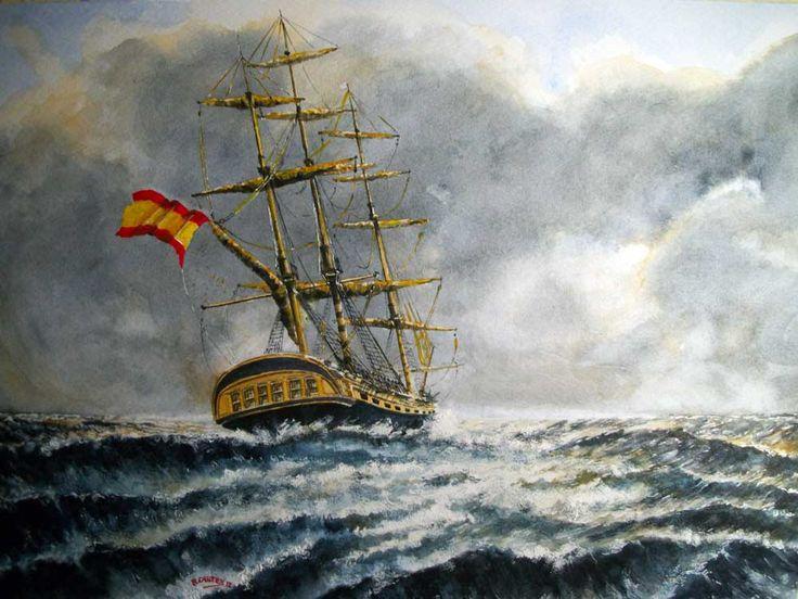 Fragata Santa Ana (Diana) 1792-1833. Fragata Diana en 1792