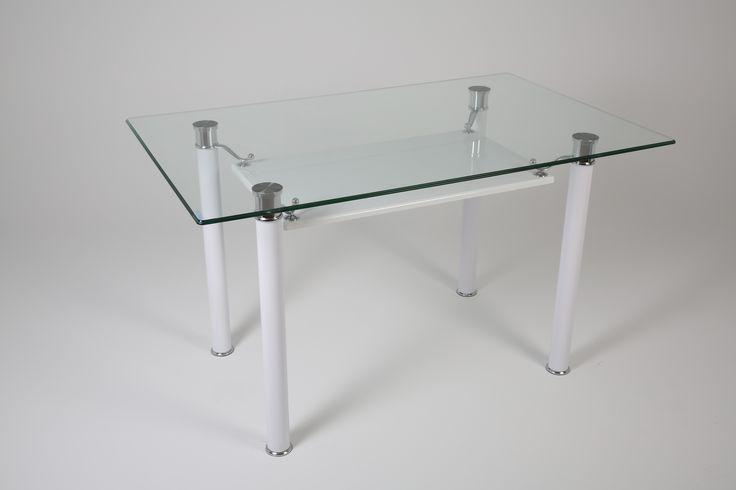 Ürün Kodu: 151 Beyaz Boyalı (İsteğe göre farklı renkler yapılabilmektedir) Glass Table - Cam Masa - Furniture - Mobilya