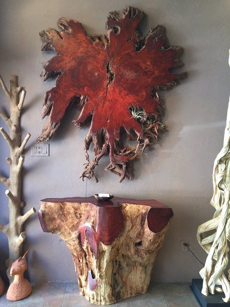 Tree Root Slice Art Lychee | Sequoia Santa Fe