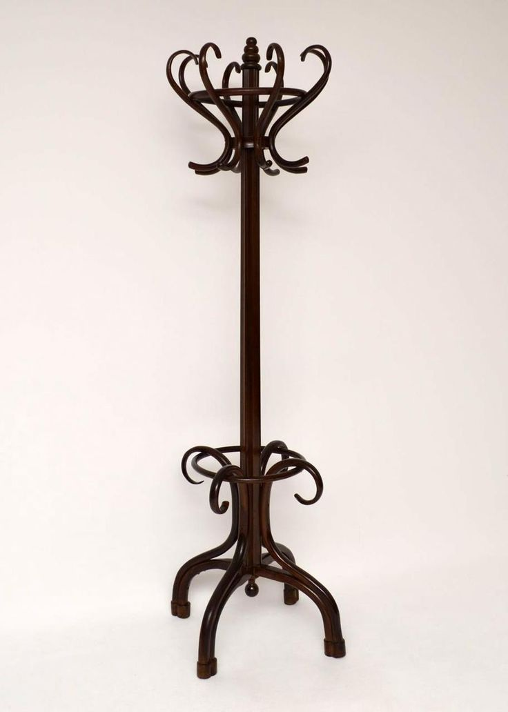 "antique-victorian-revolving-bentwood-hatstand Antique bentwood hat or coat stand which is very much in the style of 'Thonet'. It may even be a Thonet & it's certainly of that age & quality. This stand is in excellent original condition & has loads of character. The top section spins around & can be taken off for easier transport. I would date this to around the 1890 period. Width - 27.2"", 69 cm Depth - 27.2"", 69 cm Height - 79.5"", 202 cm"