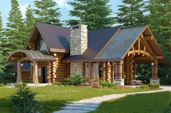 Modele de case din lemn rotund - proiecte cu personalitate